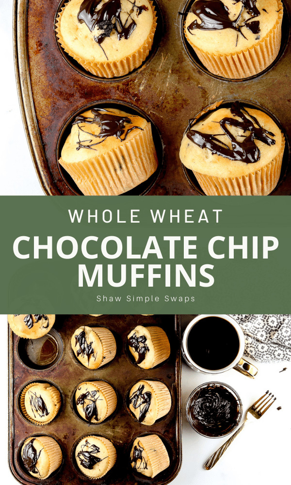 Pinable image of muffins.