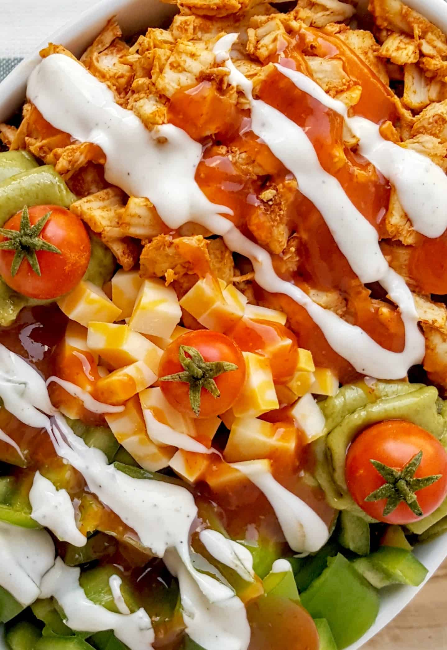buffalo chicken grain bowl shaws simple swaps