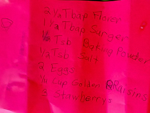 Kitchen Helpers- Kids can write a recipe- Shaw's Simple Swaps