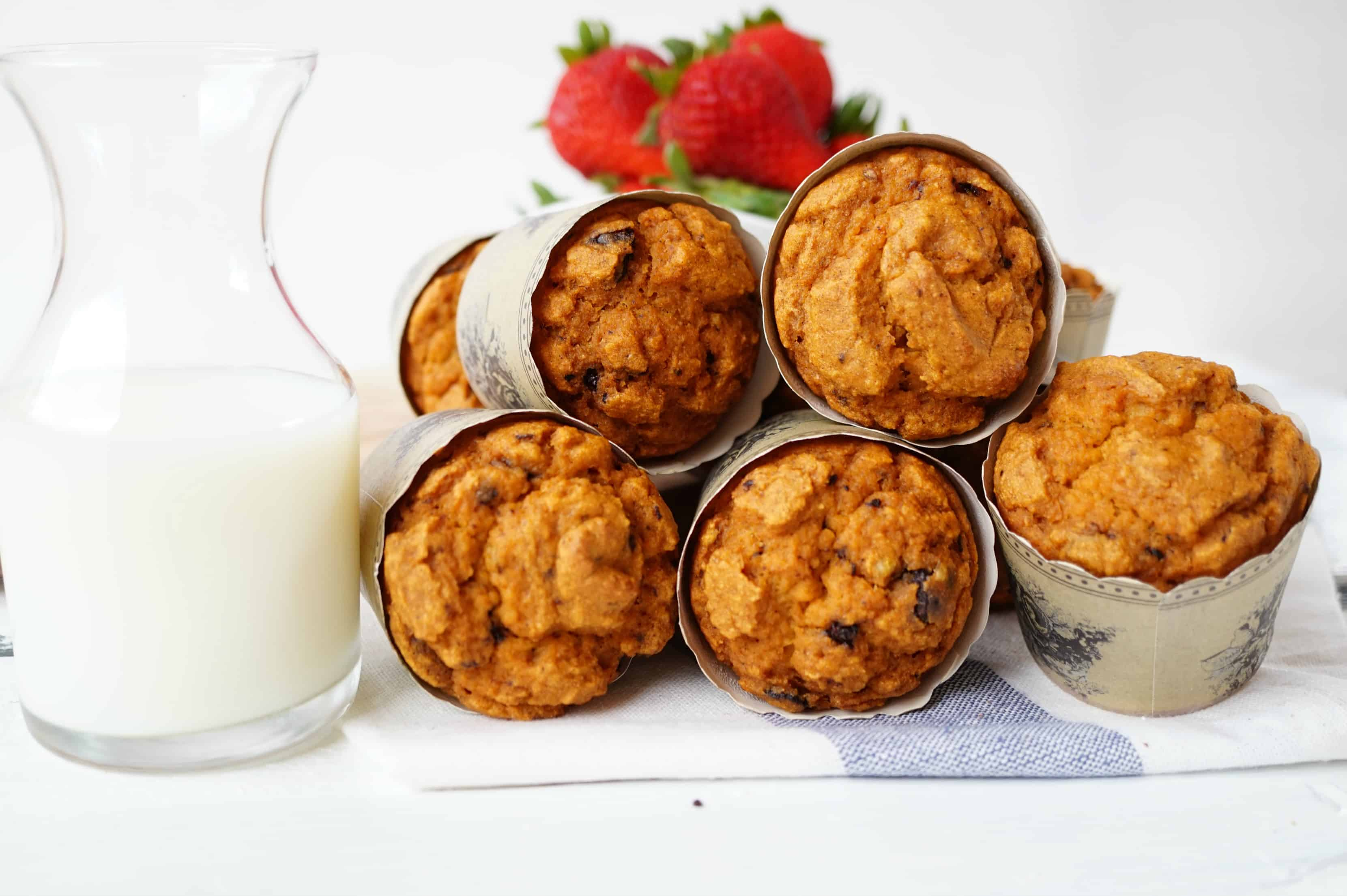 whole wheat chocolate chip muffins shaws simple swaps