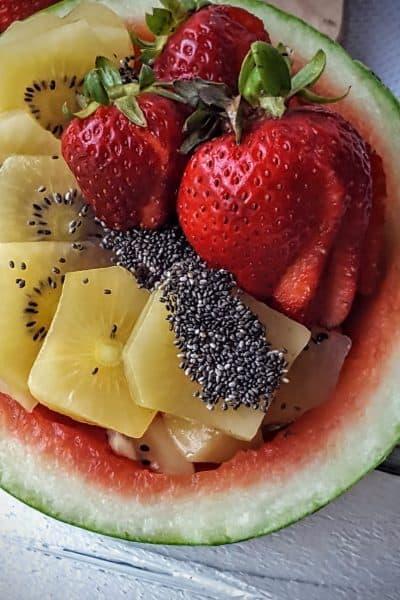 Tropical Fruit Salad= Shaws Simple Swaps