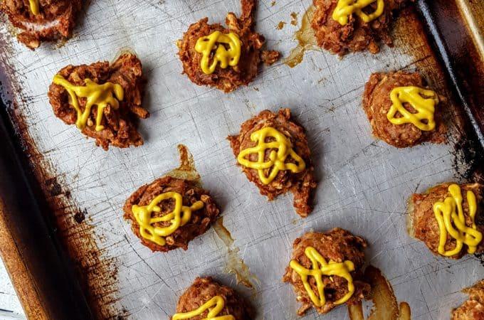 Spicy Mustard Pretzel Turkey Meatballs- Shaws Simple Swaps