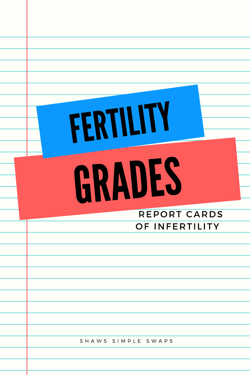 Fertility Grades - Report Cards of Infertility - Shaws Simple Swaps