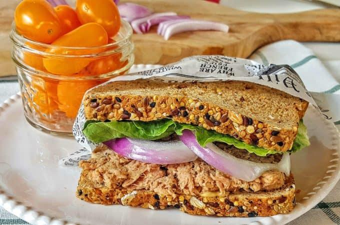 Dairy Free Tuna Salad @shawsimpleswaps #ad #sabraspreads
