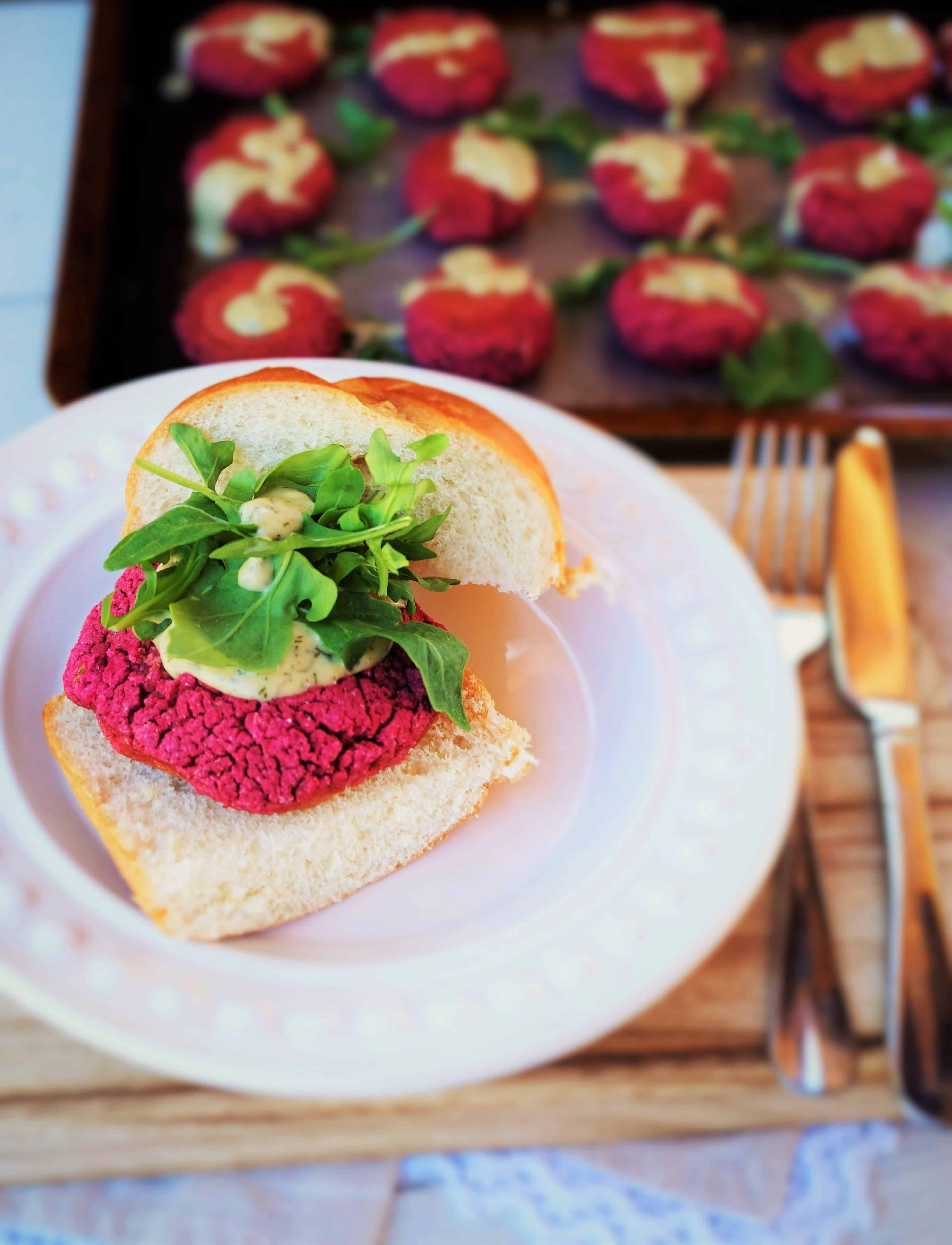 Beet Falafel Sliders - VG, GF - Shaw's Simple Swaps Perfect for a party appetizer or #meatlessmeal... Freezes well too!