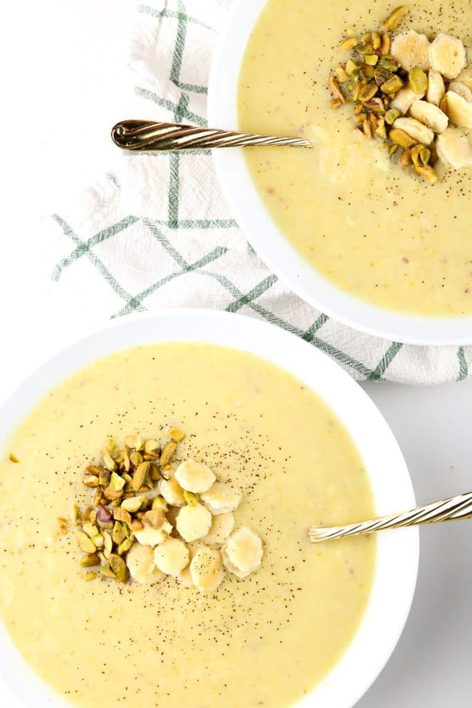 Image of staged potato soup.