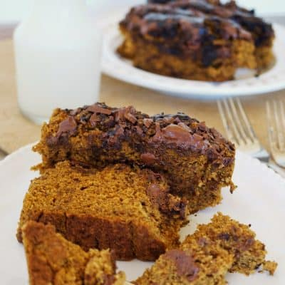 Healthy Pumpkin Bread with Chocolate Chunks