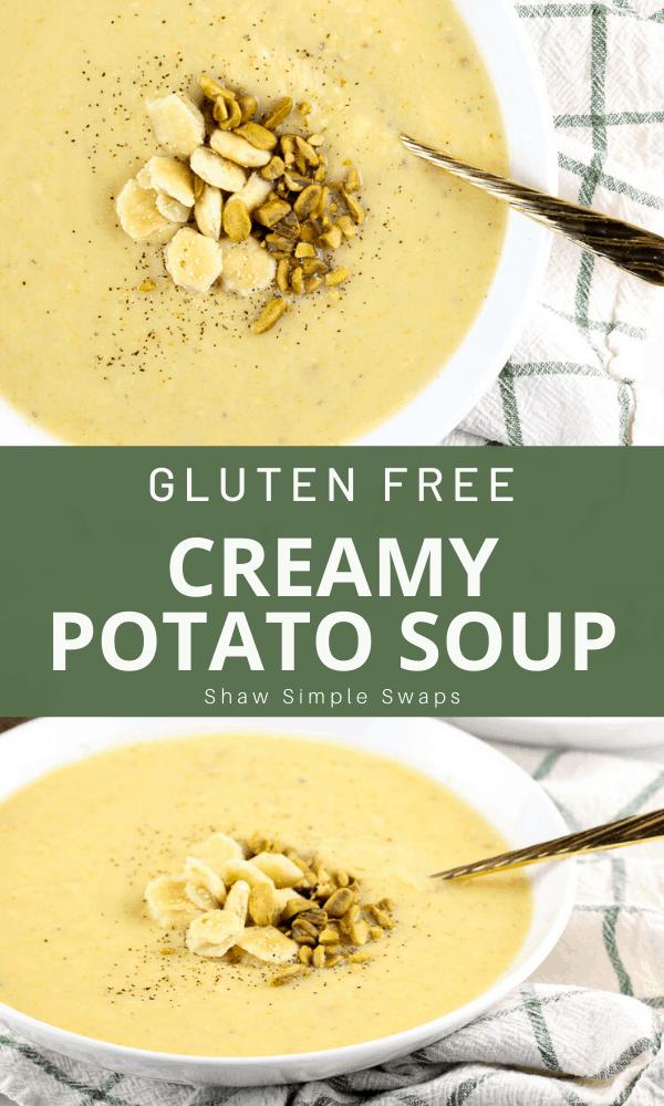 Pinable image of potato soup.