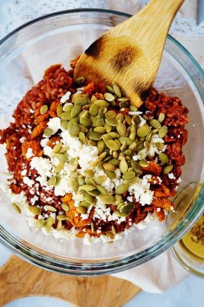 Pichuberry Red Rice with Pepitas & Tahini Vinaigrette - Gluten Free + Dairy Free Option