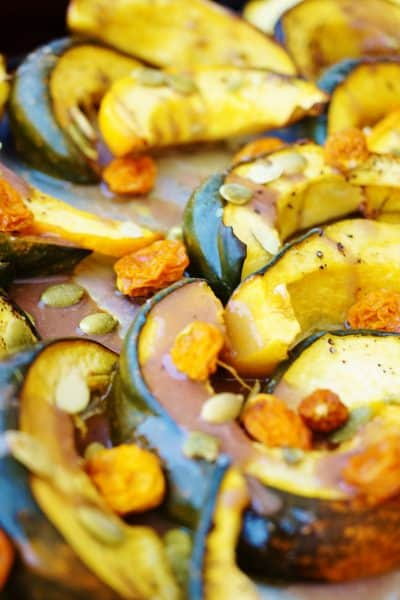Roasted Acorn Squash with Pomegranate Glaze- @shawsimpleswaps #vegan #glutenfree