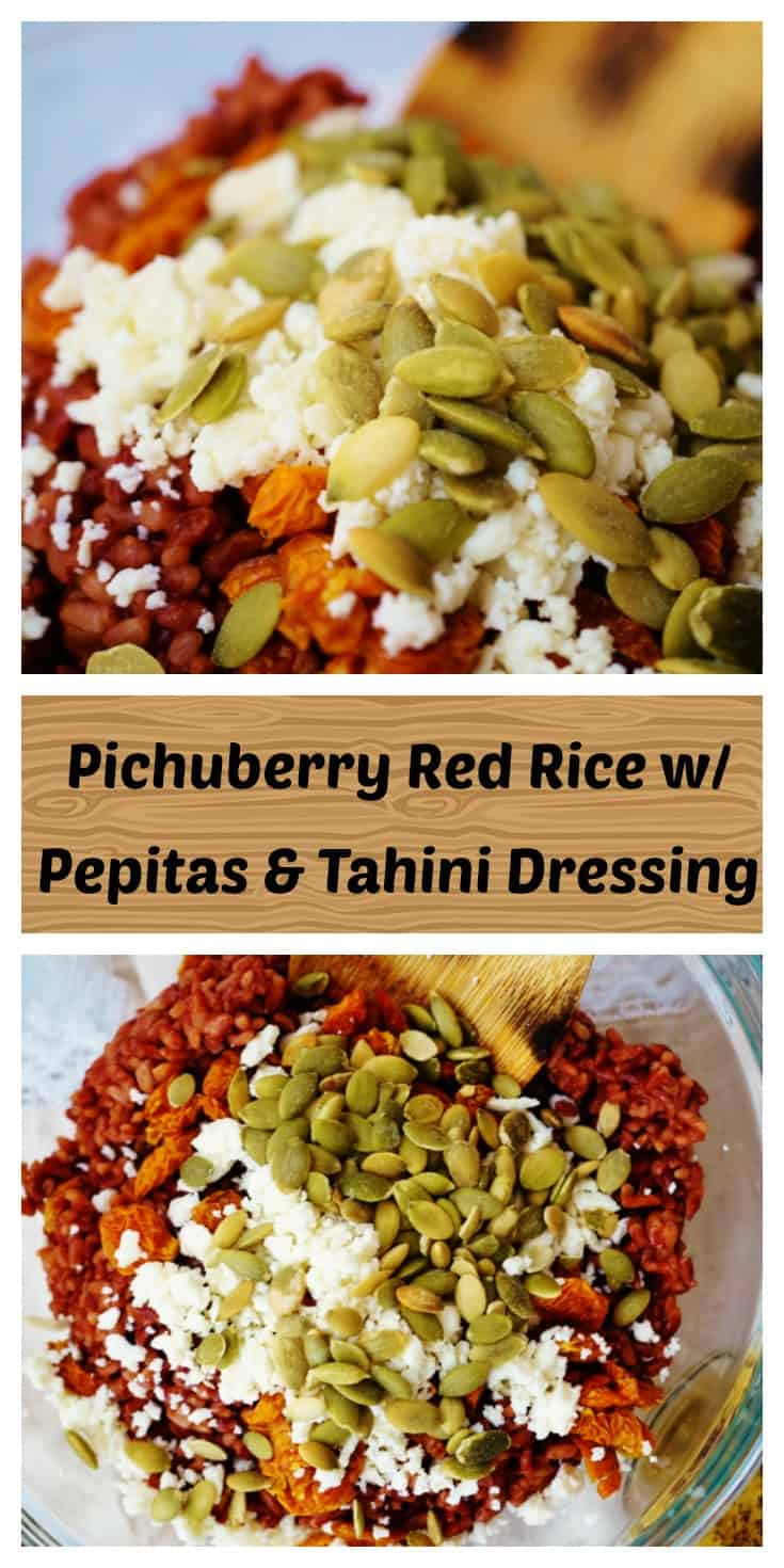 Pichuberry Red Rice with Pepitas & Tahini Vinaigrette - Gluten Free + Dairy Free Option @shawsimpleswaps