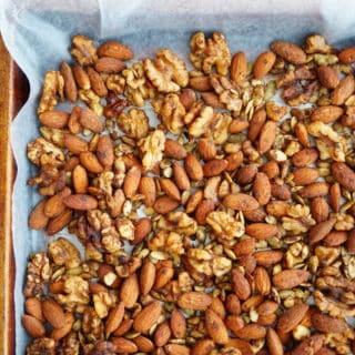 Pumpkin Pie Spiced Nuts + Meet Truvia® Nectar