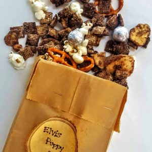 Puppy Chow Chex Mix - Elvis Style with Banana Chips! @shawsimpleswaps - The perfect DIY Foodie Gift!