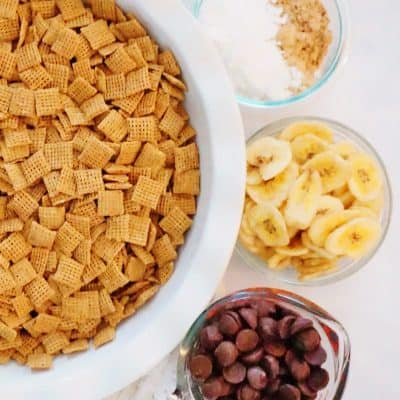 Puppy Chow Chex Mix – Elvis Style (Banana Chip Explosion)