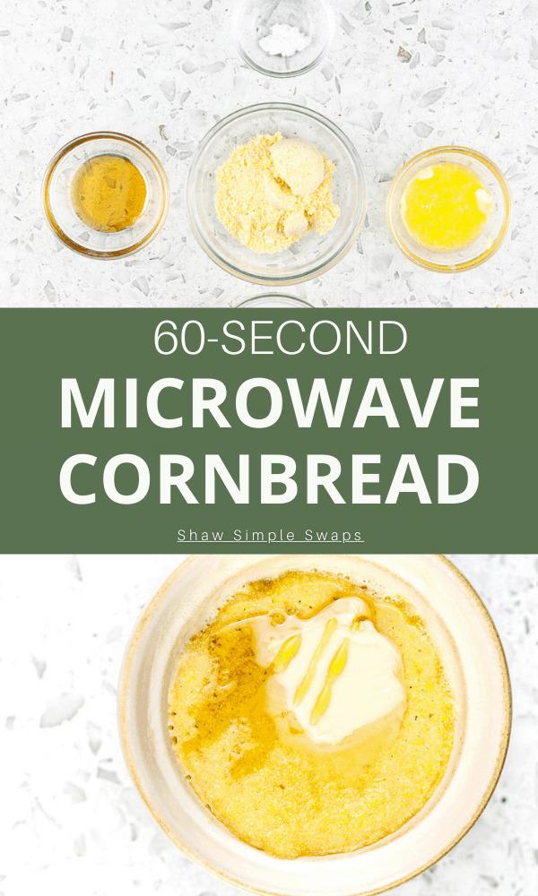 Pinterest image for cornbread.