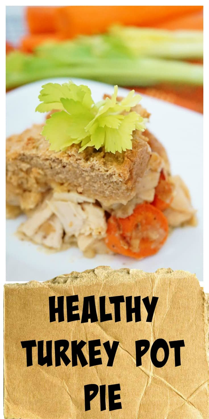 Healthy Turkey Pot Pie @shawsimpleswaps The perfect way to use up those Thanksgiving leftovers!