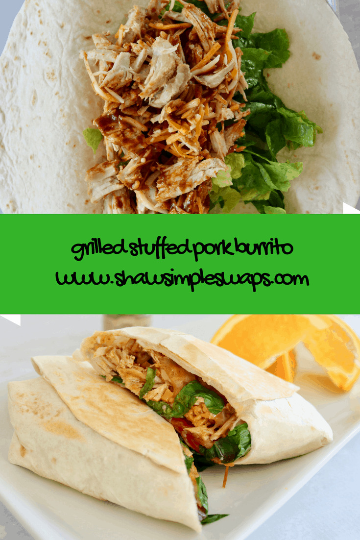 Grilled Stuffed Pork Burrito - Gluten Free & Vegan Options Available! @shawsimpleswaps