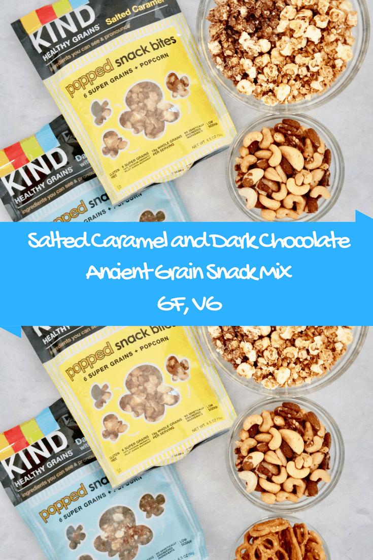 Salted Caramel and Dark Chocolate Ancient Grain Snack Mix - Gluten Free + Vegan @shawsimpleswaps