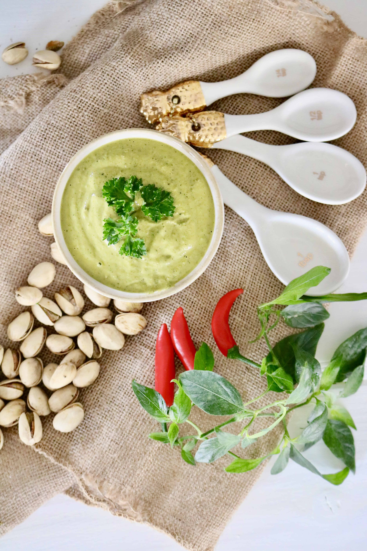 Cilantro Pistachio Pesto - Vegan, Paleo & Gluten Free @shawsimpleswaps