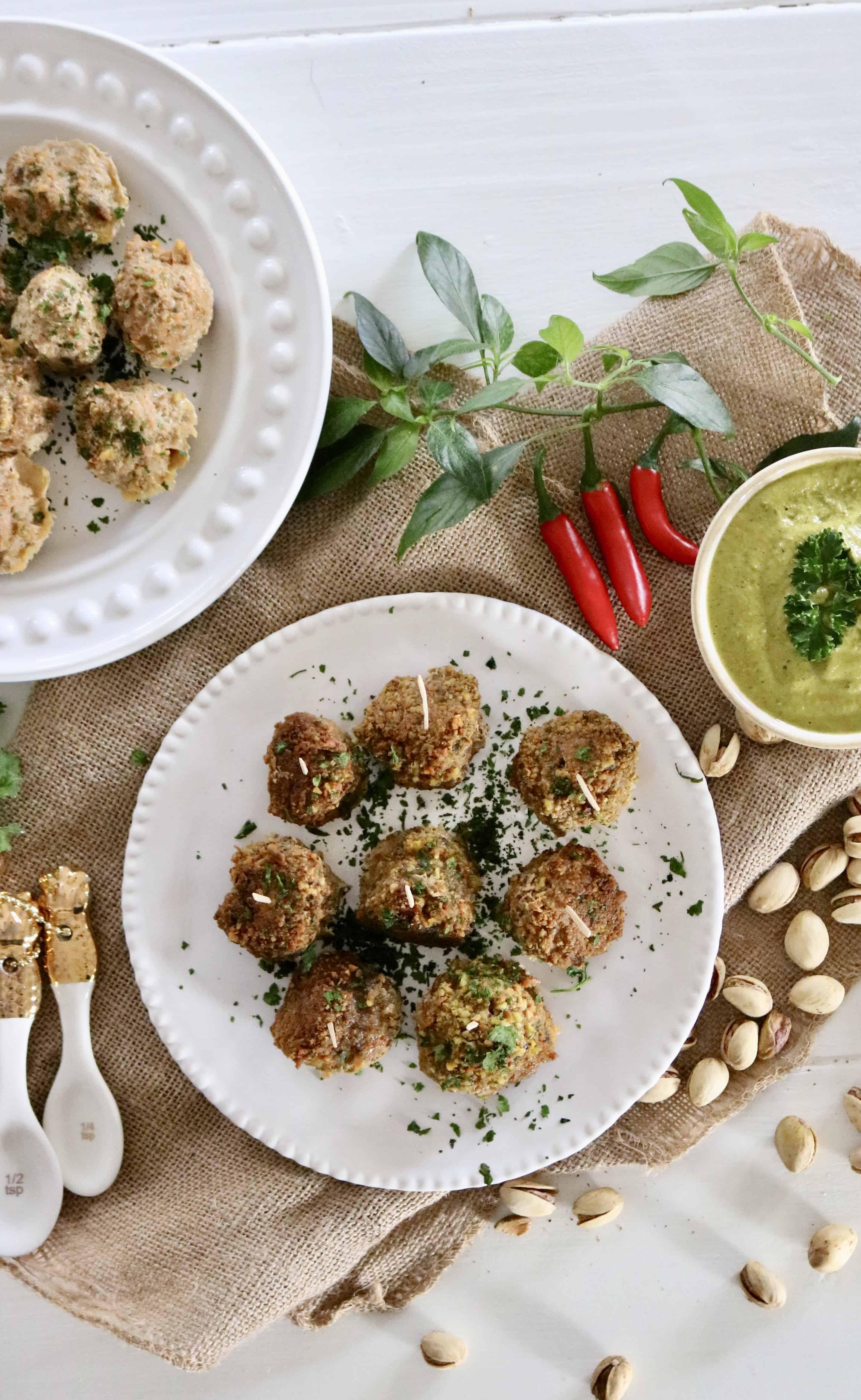 Pistachio Turkey Meatballs - Paleo, Gluten Free and 100% Yummy! @shawsimpleswaps