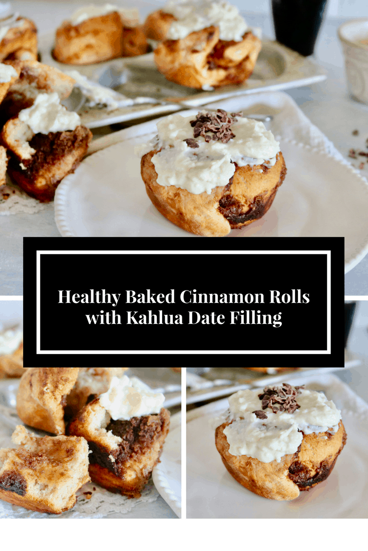 Healthy Baked Cinnamon Rolls with Kahlua Date Filling @shawsimpleswaps Delicious, healthyish and totally worth the time!