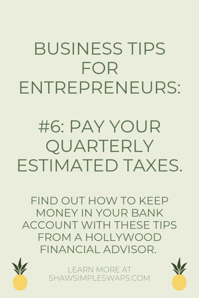 Tips for entrepreneurs #6