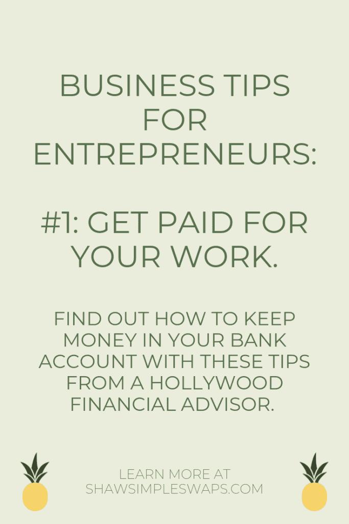 Tips for entrepreneurs #1