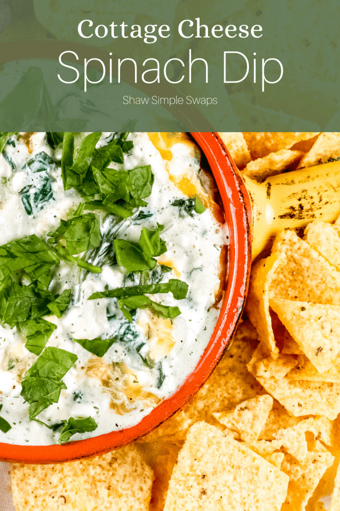 Pinable image of cottage cheese dip.