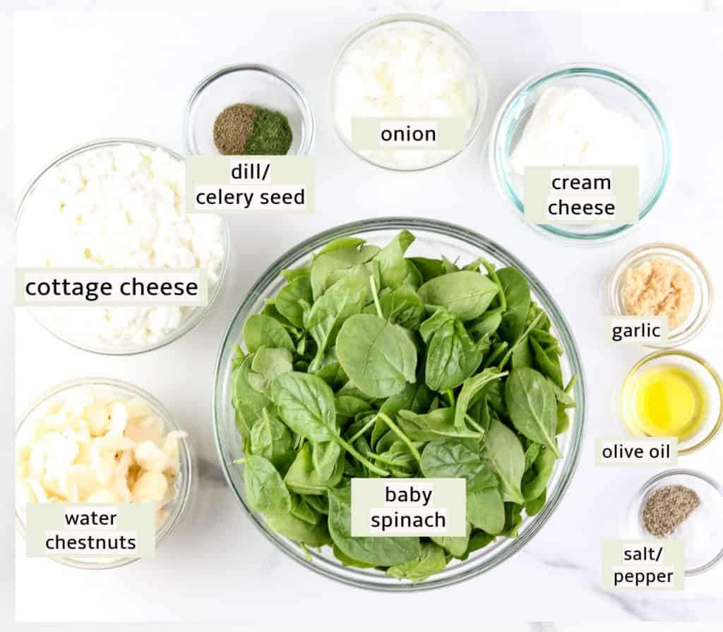 Recipe ingredient image for spinach dip.