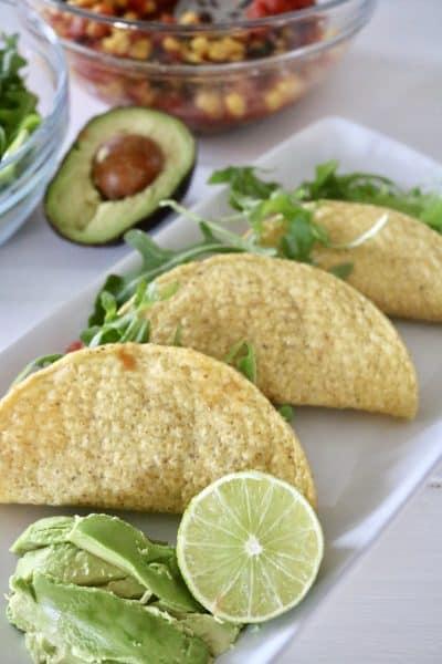 Cowboy Salsa Tacos - Vegan, Gluten Free & Ready in 5 Minutes, Flat! @shawsimpleswaps