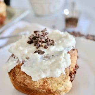 Healthy Baked Cinnamon Rolls with Kahlua Date Filling