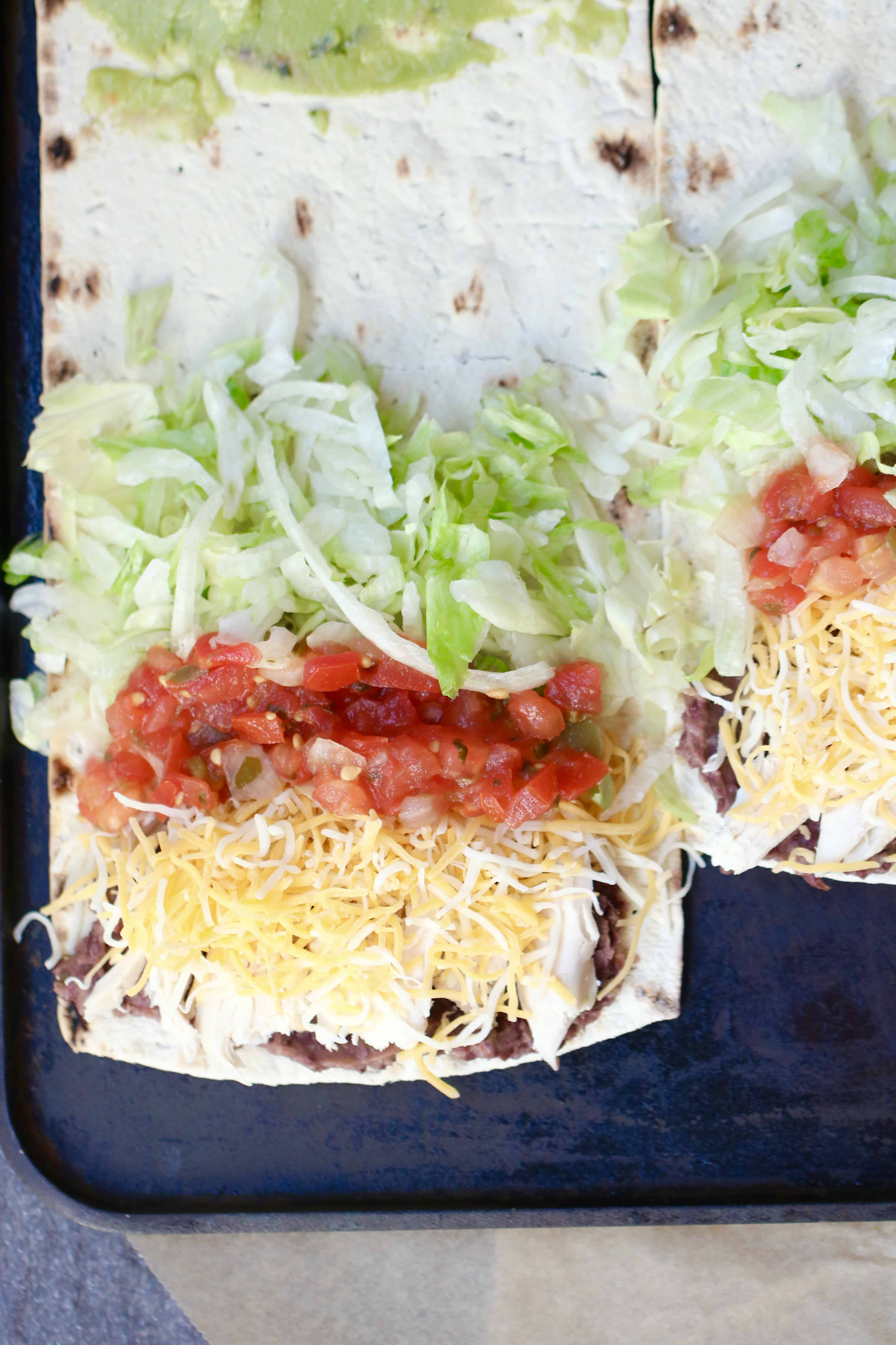 California Crunchwrap Supreme - Flatout Friendly & Weight Watchers Approved! @shawsimpleswaps