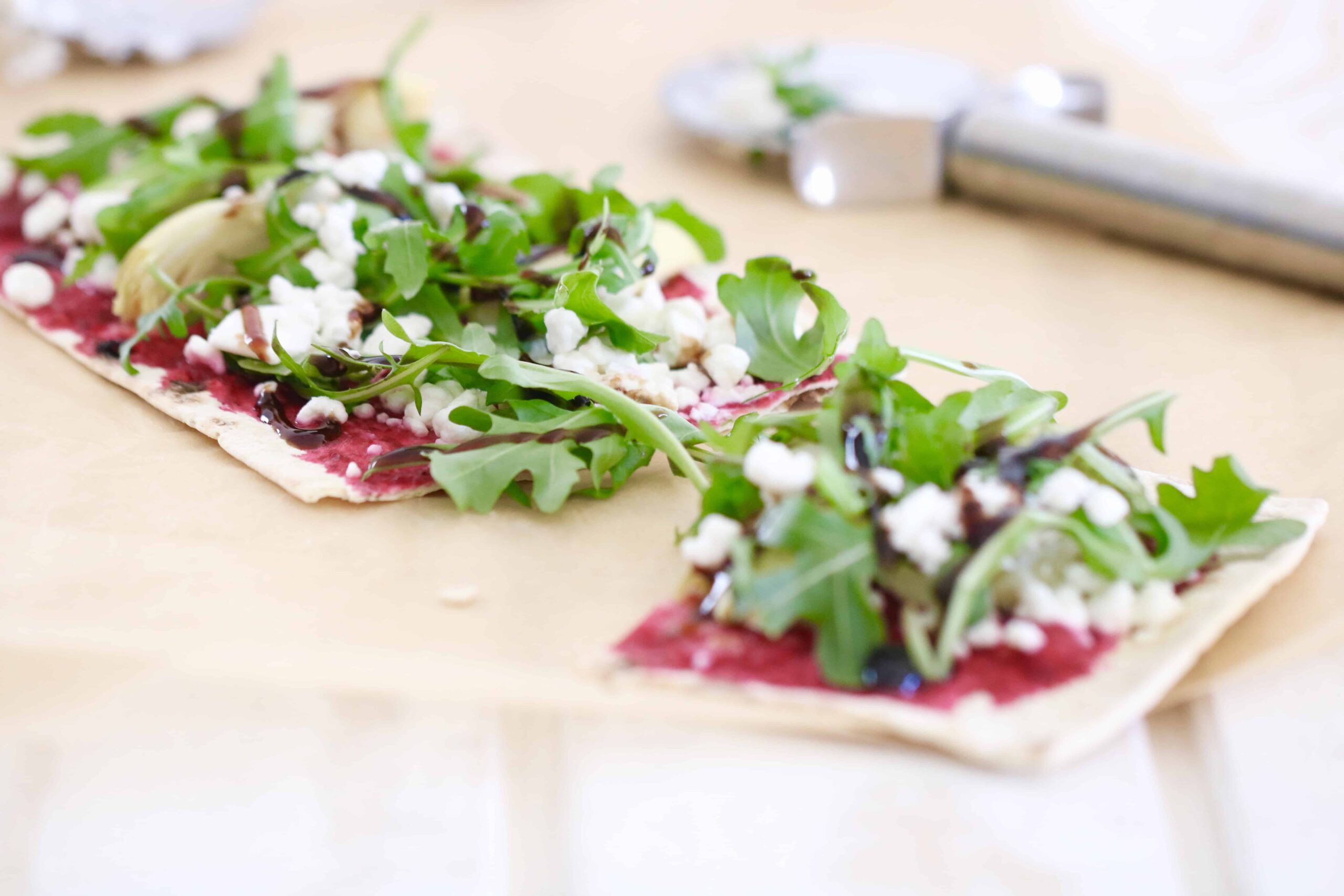 Goat Cheese, Artichoke & Pickled Beet Artisan Pizza @shawsimpleswaps
