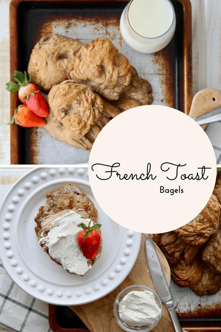 Homemade French Toast Bagels  Breakfast Made Easy! @shawsimpleswaps