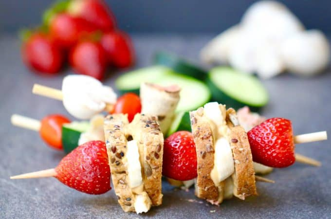No Cook Picnic Snacks - 3 Skewers to Satisfy Every Appetite! @shawsimpleswaps