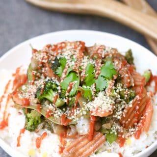Stir Fry Vegetables with Basmati Rice + Easy Ways to Reduce Food Waste