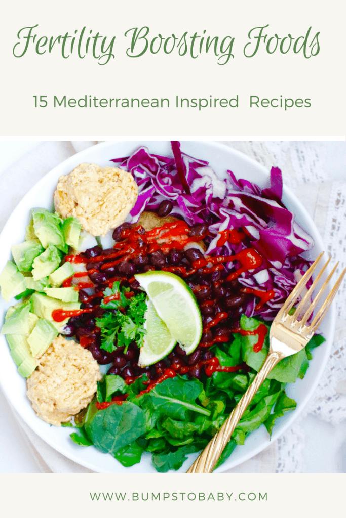 15 Mediterranean Recipes to Fuel Your Fertility @bumpstobaby