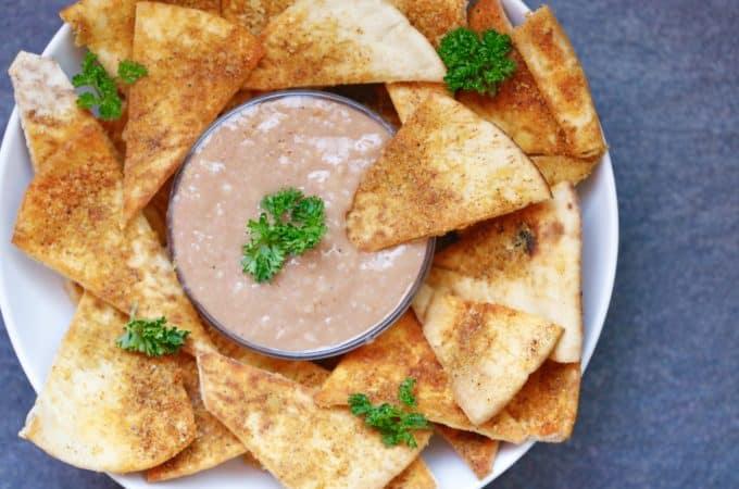 Chili Cheese Pita Wedges + BBQ Hummus Dip @shawsimpleswaps