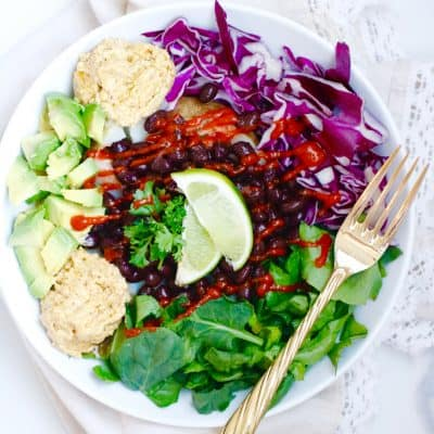 Smashed Baked Potato Nourish Bowl – Vegan + Gluten Free