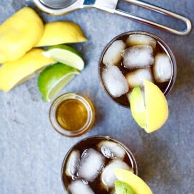 Bourbon Iced Tea with a Lemon Lime Splash