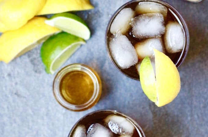 Bourbon Iced Tea with a Lemon Lime Splash @shawsimpleswaps