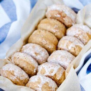 Mini Maple Cinnamon Pancake Donuts @shawsimpleswaps
