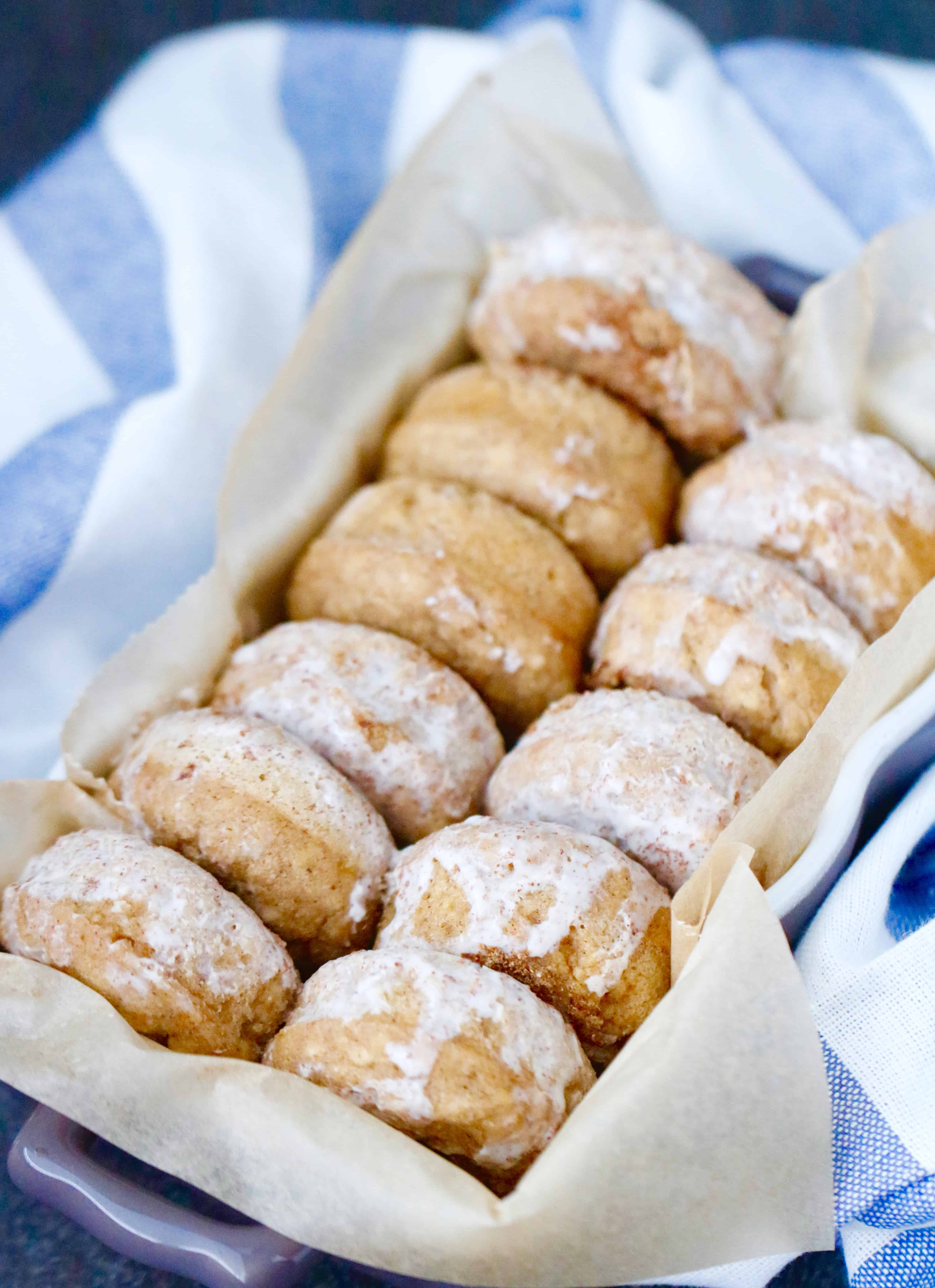 Mini Maple Cinnamon Pancake Donuts  @shawsimpleswaps