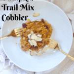 Slow Cooker Pumpkin Trail Mix Cobbler - Vegan & GF Option @shawsimpleswaps