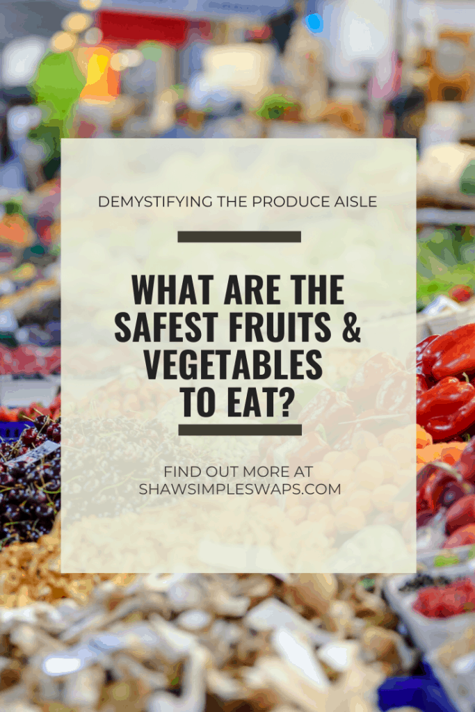 Demystifying the Produce Aisle- A thorough review of the safety of fruits and vegetables. #safeproduce #cleanproduce #plantbased #clean15 #dirtydozen