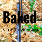 Baked Fried Rice with Veggies - Gluten Free + Vegetarian @shawsimpleswaps