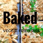 Baked Fried Rice with Veggies - Gluten Free + Vegetarian @shawsimpleswaps