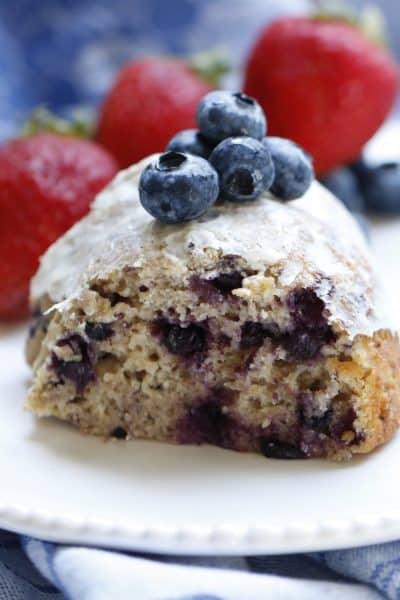 Wild Blueberry Bundt Cake with Lemon Cream Cheese Frosting @shawsimpleswaps