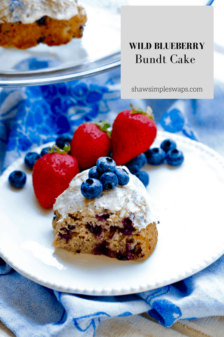 Wild Blueberry Bundt Cake with Lemon Cream Cheese Frosting @shawsimpleswaps