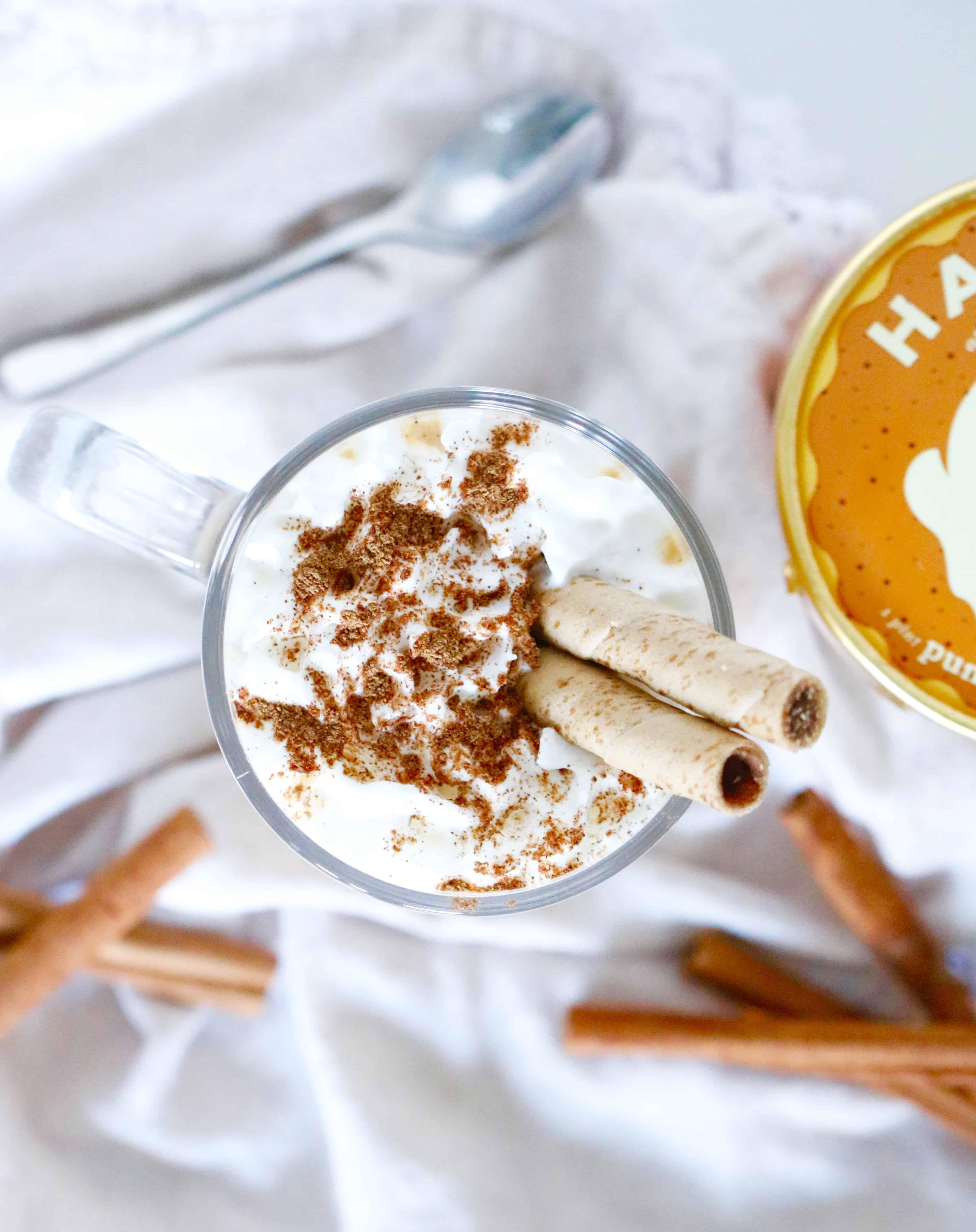 Frozen Pumpkin Spice Latte - Enjoy a taste of fall! @shawsimpleswaps